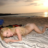 Luna Rae Dildo on the beach in Hawaii